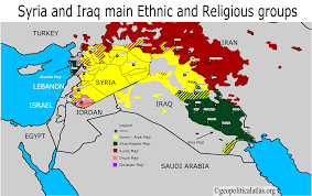 Iraq Syria Map by Syria And Iraq Main Ethnic And Religious Groups