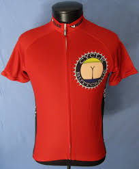 red cycling jacket cyclebuttcrack classic funny cycling jersey cyclebuttcrack