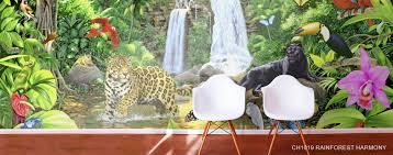 jungle safari animal murals