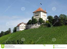 Small Castle by Small Castle In Central Switzerland Royalty Free Stock Photo