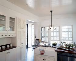 dazzling apron front sink in kitchen shabby chic with double hung