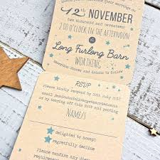 folded invitation star tri folded recycled wedding invitation by paper and inc