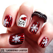 new nail design ideas black and white themed halloween classic
