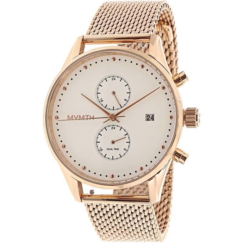 MVMT Unisex Voyager Rose-Gold Stainless-Steel Analog Quartz Dress Watch