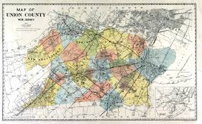 Map Nj Historical Union County New Jersey Maps