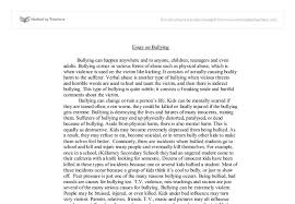 narrative essay on bullying Free Essays and Papers img cropped   png bullying essay  essay about bullying  thesis statement for