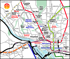 Washington Dc Usa Map by Washington Dc Universities Map Maps Of Usa