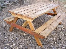 Free Wooden Picnic Table Plans by Classes Dining Room Finished2 Wood Picnic Table Plans Hampedia