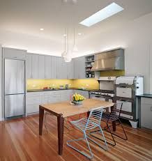 yellow kitchen backsplash home design ideas pictures remodel ordinary yellow kitchen backsplash part 2 contemporary kitchen with gray cabinets