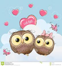 cute lovers owls stock vector image 66716852