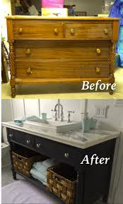 Painting Bathroom by Re Do Of An Old Dresser Into A Bathroom Vanity Painted With Chalk