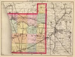 Detroit Michigan Map by Old County Map Ottawa Michigan 1873