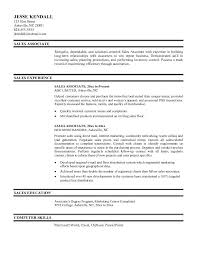Professional Sales Associate Objective Resume Sample   Job and     Job and Resume Template