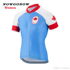 red cycling jacket women cycling jersey red blue canada national flag team short