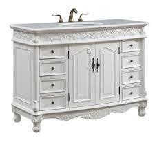 Vanities - 48 bathroom vanity antique white