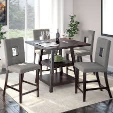 Five Piece Dining Room Sets Furniture Of America Gizelle 5 Piece Counter Height Table Set