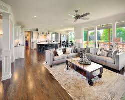 open concept living by bickimer homes interior design couches