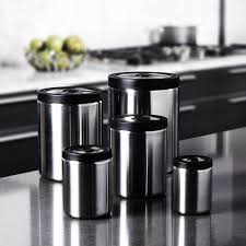 20 black kitchen canister fifth avenue crystal white