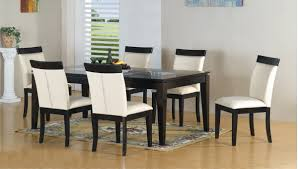 Black And White Dining Room Chairs Dining Tables Astonishing Modern Black Dining Table Long Black