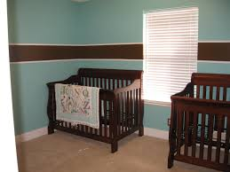 Bedroom Ideas With Blue And Brown Bedroom Stunning Double Brown Convertible Crib With Combo Size