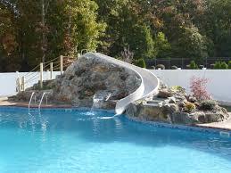 inground pool slides ls waterfalls
