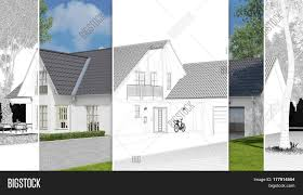 house with carport single family home with carport as cad sketch and 3d rendering