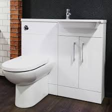 Bathroom Combined Vanity Units by Cassellie Pebble D Shape Combination Unit Polymarble Basin Right H