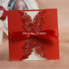 Invitation Card Store Aliexpress Com Buy Free Print Laser Cut Lace Red Wedding