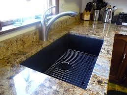 anthracite sink what color faucet