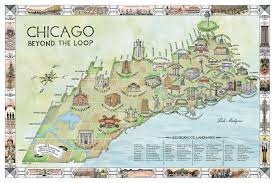 North Shore Chicago Map by Mapping Chicago Neighborhoods By Their Landmark Buildings Curbed