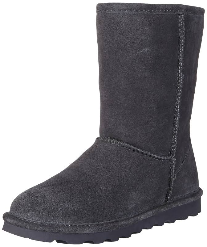 Bearpaw Elle Short Charcoal Mid-Calf Suede Over-the-Knee 7M