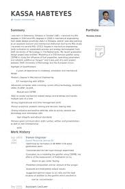 Resume Samples For Experienced Mechanical Engineers by Trainee Engineer Resume Samples Visualcv Resume Samples Database