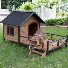 amazon com large dog house lodge with porch deck kennels crates