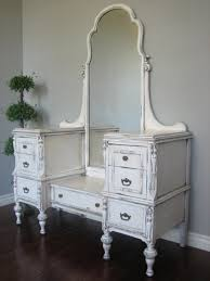 White Shabby Chic Dressing Table by Shabby Chic Wooden Dressing Table With Drawers And Curved Mirror