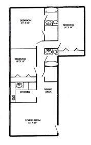 3 Bedroom Apartment Floor Plan 3 Bedroom 2 Bath Westmont Gardens Apartments