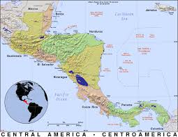 Centro America Map by Central America Public Domain Maps By Pat The Free Open Source