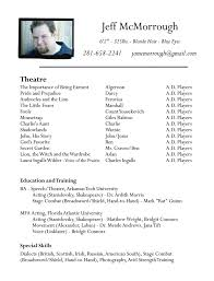 Doc          Example Actor Resume Template  Actors Resume Samples Great Objective for Resumes