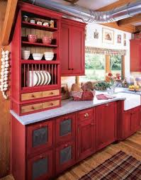 Kitchen Plate Rack Cabinet by Kitchen Design Red Country Kitchen Design With Open Shelves And