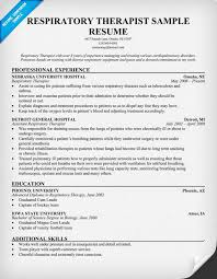 Physical Therapy Resume Sample by Free Resume Respiratory Therapist Resume Http Resumecompanion