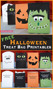 Printable Halloween Bags Free Halloween Printable Treat Bags By Press Print Party Free