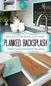 Remodelaholic DIY Plank Backsplash Using Peel And Stick Vinyl - Peel on backsplash