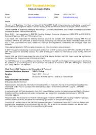 Resume Cover Letter For Freshers Sap Fresher Resume Sample Resume For Your Job Application