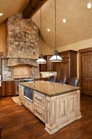 white oak wood saddle glass panel door large kitchen islands with
