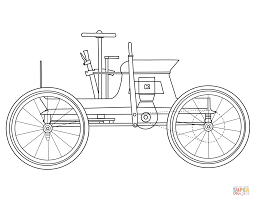 Old Ford Truck Coloring Pages - antique car coloring page free printable coloring pages