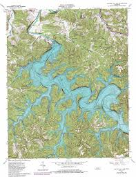 State Of Tennessee Map by Center Hill Dam Topographic Map Tn Usgs Topo Quad 36085a7