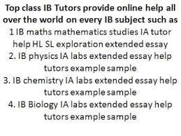 Ib chemistry tutors portfolio hl sl ia lab extended essay write up he