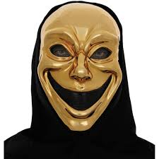 halloween mask costumes metallic gold smile mask muse of comedy halloween accessory