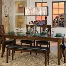 luxury dining table with bench fashionable dining table with image of long dining table with bench