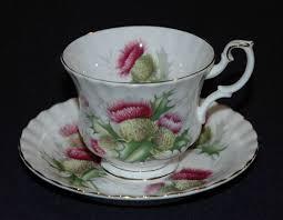 royal albert highland thistle cup and saucer set bone china