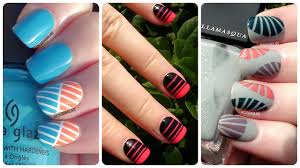 striping tape nail art 3 easy designs nail art for beginners
